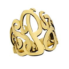 3 Initial Monogram Ring. Must have!