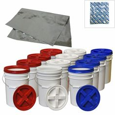 12-pack Gamma Lids & 6-gallon Buckets with 12 Mylar Pouches & 80 500cc Oxygen Absorbers 189.99 with shipping $204.67