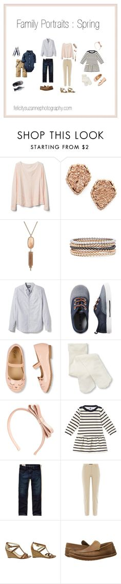Family Wardrobe | Spring by felicity-suzanne on Polyvore featuring Gap, Piazza Sempione, Alexandre Birman, Kendra Scott, RED Valentino, Timberland, Banana Republic, Hollister Co., Carter's and Appaman