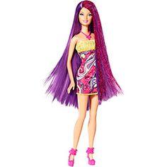 Barbie Cabelos Longos Roxo - Mattel