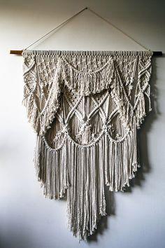 Perkūnas / Macrame wall hanging / Fiber art / Baltic series /