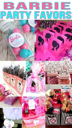 Barbie Party Favors! Barbie birthday party bags, goodie bag & more ideas.  Get the best Barbie birthday party ideas. Best ideas for boys and girls for a bday or classroom party. Candy, gum, toys & more kids and children of all ages will love. DIY or buy some fun Barbie party favors. Find Barbie birthday party ideas now!