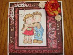 Anniversary card, Love, Magnolia Tilda and Edwin