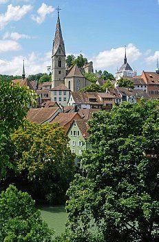 Baden / Limmat River / Aargau