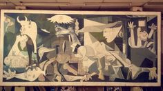 """"""" Guernica """" by Picasso.  Seen at U of K - Faculty Of Architecture ."""