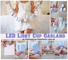 LED lights cup garland