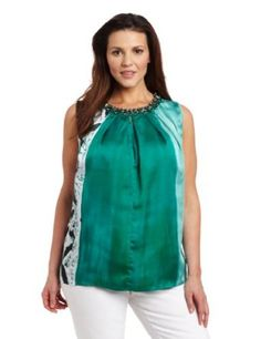 20c582d710d Jones New York Women s Plus-Size Embellished Neck Halter Blouse  139.00   amp  FREE Shipping