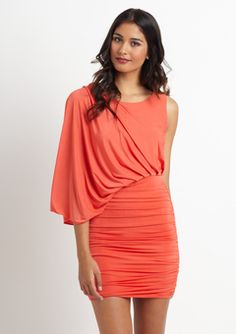 Garcia One-Shouldered Gathered Dress