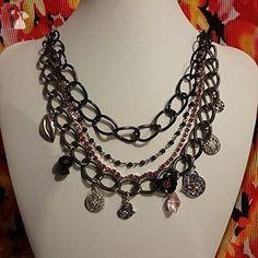 SWAK Hearts, Rhinestones & Beads Necklace - Wedding nacklaces (*Amazon Partner-Link)