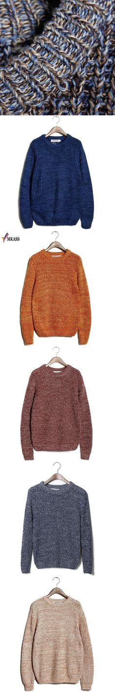 2018 Spring Autumn New Sweaters Men Slim Fit Knitted Pullovers Casual Sweater High Quality Brand Clothing 10 Colors