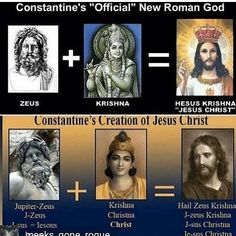 Constantine's creation of Jesus Christ and new religion Ancient Aliens, Ancient History, Angst Im Dunkeln, Pagan Gods, Anti Religion, Black History Facts, Bible Knowledge, Ancient Mysteries, Bible Truth