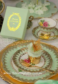 Marie Antoinette High Tea Party | Laduree Favors | The Vintage Table Perth