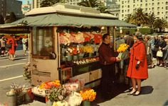 Street flower vendors add charm and beauty to the city - San Francisco