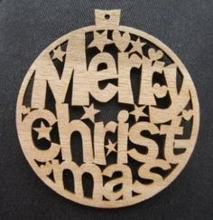 Christmas laser cut ornament