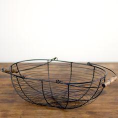 black wire basket: Black wire basket.