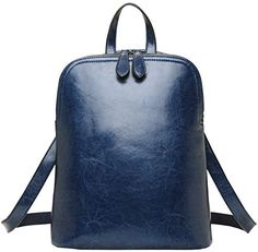 Heshe Vintage Womens Backpack Casual Daypack Handbags for Ladies and Girls Navy Bluer *** See this great product.