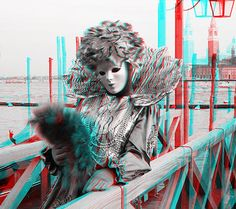 Venice Carnival | Photo Gallery | stereo 3D carnival masks photos | high resolution pictures