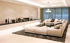If you were searching for a modern living room design we have just the inspiration that you need in these pictures of modern living room interior design. Decoration Faux Plafond, Decoration Ikea, Roof Decoration, Living Room Modern, Interior Design Living Room, Home And Living, Interior Paint, Living Rooms, Small Living