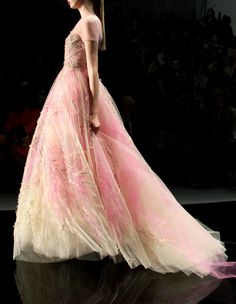 Reem Acra - Soft + Flowing Pink and Yellow