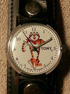 Tony The Tiger Watch, Kellogs Frosted Flake Cereal, 1976 Vintage Toys, Retro Vintage, Children's Watches, Kid Character, Ol Days, Good Ol, Vintage Children, Fingers, Fragrance