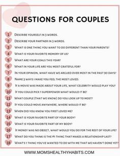 In this article you'll find amaizng and best relationship advice or marriage tips. Date Night Questions, Fun Questions To Ask, This Or That Questions, Deep Questions, Fun Couple Questions, Questions To Get To Know Someone, Would You Rather Questions, Personal Questions, Dating Questions
