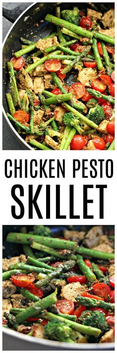 Chicken Pesto and Asparagus Skillet – Six Sisters' Stuff