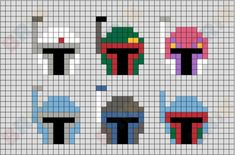 Melty Bead Patterns, Hama Beads Patterns, Beading Patterns, Minecraft Beads, Minecraft Designs, Cross Stitching, Cross Stitch Embroidery, Perler Bead Art, Perler Beads