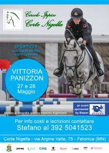 """Vittoria Panizzon, stage """"completo"""" 27-28 maggio all'agriturismo Corte Nigella di Felonica (MN). Info su www.argalombardia.eu"""