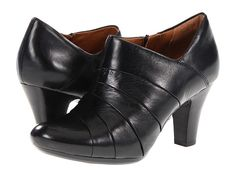 Clarks Society Gown Black Leather - Zappos.com Free Shipping BOTH Ways