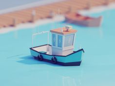 Low poly is a direction of art which is now a trend in game and video design. Check the inspiring collection of isometric low poly illustrations by Mohamed Chanin: characters, rooms, vintage details and much more. Game Design, Boat Design, Design Art, Modelos Low Poly, Modelos 3d, Low Poly Car, Piskel Art, Low Poly Games, Fishing Photography