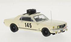 Ford Mustang No.145 Rally Monte Carlo 1966 Chemin/Trintignant beige 1:43 Premium X