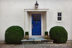 [CasaGiardino]  ♛  Electric Blue Front Door.  Michael Trapp | Interior Design, Landscape Design & Antiques | Projects