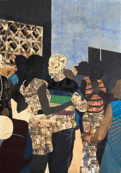 I Refuse to be Invisible by Njideka Akunyili Crosby. Artwork Type: Other; Medium: Ink, charcoal, acrylic and transfers on paper. Art And Illustration, Illustrations, Figurative Kunst, Contemporary African Art, Contemporary Artists, African American Artist, Africa Art, New York Art, Wow Art
