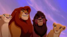 "Nala, Simba, Kovu, and Kiara from ""The Lion King 2: Simba's Pride"""