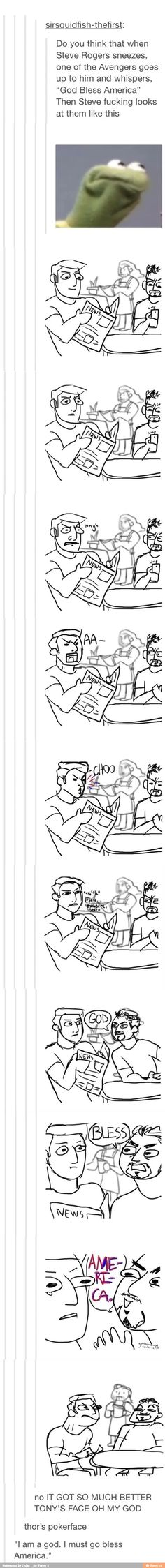 SOMEONE DREW IT. I LOVE YOU. I KNEW IT WOULD BE TONY THAT WOULD SAY THIS.