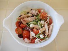 Healthy Picnic BBQ Salad Greek Chicken Cucumber Noodles