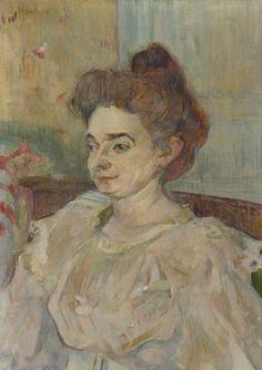 Henri De Toulouse-Lautrec (1864-1901) Portrait De Beatrice Tapie De Celeyran 1897 (24,8 by 17,5 cm)
