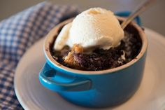 Wild Maine Blueberry cake pudding