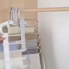 Stainless steel multi-functional drying trouser rack multi-layer storage folding trouser rack Related posts: Storage under the roof, wardrobe Pant Hangers, Clothes Hanger, Organiser Son Dressing, Hanging Pants, Pants Rack, Bedroom Closet Design, Hanger Rack, Space Saving Storage, Closet Space