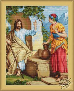 Jesus and the Samaritan Woman - Cross Stitch Kits by Luca-S - B478