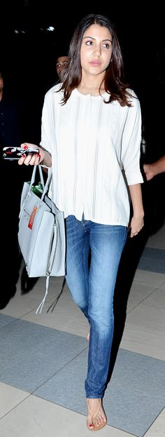 Anushka Sharma at the Mumbai airport.