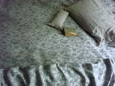 Two-sided Jacquard Linen Bedspread natural linen by Luxoteks