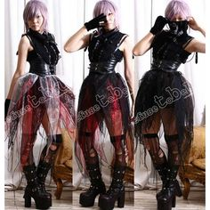 15.00 Rtbu Gothic Punk Larp Steampunk Visual Fairy Kei Sheer Tulle... ($15) ❤ liked on Polyvore featuring skirts, grey, women's clothing, long skirts, gothic skirt, sheer maxi skirt, floral knee length skirt and elastic waist skirt