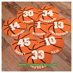 Add these cardstock Die-Cuts to your cheer posters, scrapbook projects, party décor, treat bags . The possibilities are endless and your team will LOVE them! This listing is for Twelve Basketball Die-Cuts. Fully Assembled by hand using high quality Basketball Crafts, Basketball Signs, Basketball Decorations, Basketball Cheers, Basketball Posters, Basketball Season, Sports Basketball, Basketball Stuff, Basketball Party