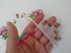 Different Needle Lace Models - Harika El işleri-Hobiler Lace Patterns, Baby Knitting Patterns, Knitting Stitches, Flower Patterns, Crochet Patterns, Crochet Triangle, Hand Embroidery Flowers, Hand Applique, Tatting Lace