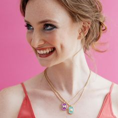 San Francisco Lavender Peak Stud Geometric Necklace | fun jewellery for happy girls | go jewellery from London