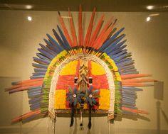 Headdress from the Spirits & Headhunters: Vanishing Worlds of the Amazon exhibit
