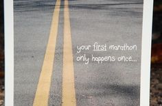 Card For Runners First Marathon PR017 by AsphaltAndMe on Etsy, $3.75