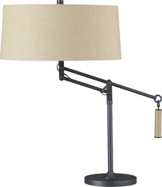 Autry Table Lamp in Table, Desk Lamps | Crate and Barrel: has adjustable height!