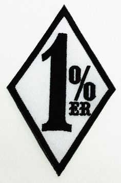 1% er 1 % 1%er 1er Outlaw Chopper Motorcycle Club Gang Biker DIY Applique Embroidered Sew Iron on Patch p141 -- You can get more details by clicking on the image.
